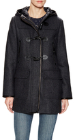 Cole Haan Wool Hooded Toggle Coat