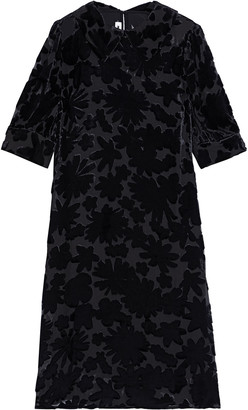 McQ Devore Silk-velvet Dress