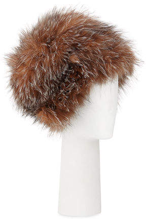 Surell Accessories Fox Fur Bubble Hat