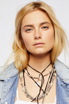 Free People Magic Waters Faux Pearl Leather Necklace