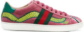 Gucci embroidered dragon sneakers