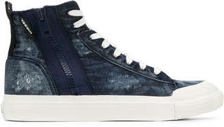 Diesel Zip High-Top Sneakers
