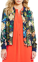 Gibson & Latimer Tropical Print Bomber Jacket