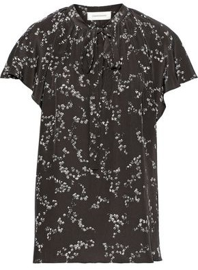 Zimmermann Pussy-bow Ruffled Silk Crepe De Chine Blouse