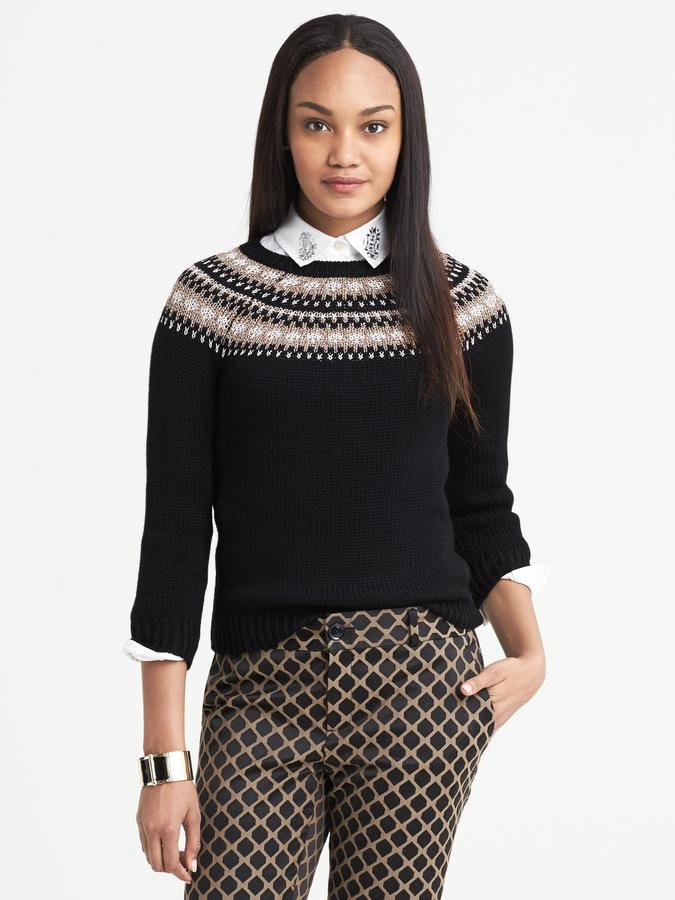 Banana Republic Fair Isle Pullover