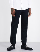 Fendi Striped-detail relaxed-fit jersey jogging bottoms