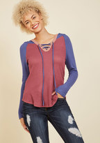 Nice and Easel Long Sleeve Top in 2X