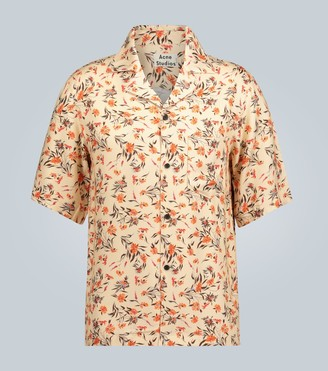 Acne Studios Simon floral short-sleeved shirt