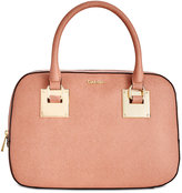 Calvin Klein Saffiano Leather Convertible Satchel