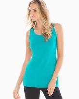Soma Intimates Pima Cotton Tunic Layering Tank Viridian Green