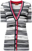 Missoni V-neck striped shortsleeved cardigan - women - Nylon/Polyester/Viscose - 38