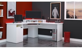 Ebern Designs Wolters L-Shape Computer Desk Ebern Designs Color: Tuscany Brown