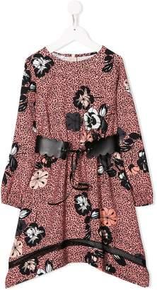 Liu Jo Kids leopard floral print dress