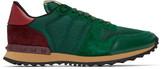 Valentino Green Mesh Rockrunner Sneakers