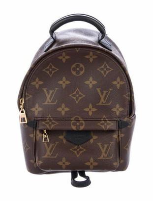 Louis Vuitton Monogram Palm Springs Mini Backpack Brown