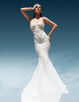 Terani Evening - Pearl Crusted Sweetheart Mermaid Gown 1611GL0463A
