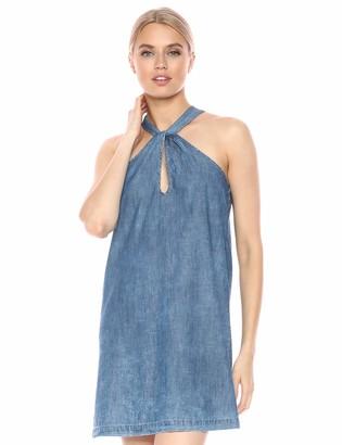 BCBGeneration Women's Denim Twist Front Halter Dress