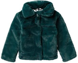 Urban Republic Faux Fur Snap-Up Coat