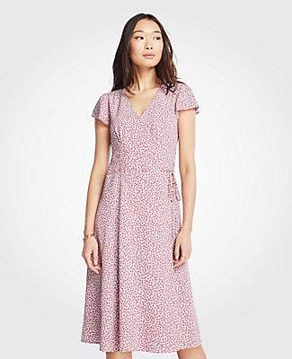 Ann Taylor Petite Floral Belted Wrap Dress