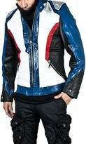 The Custom Jacket Soldier 76 Jacket Overwatch Men's Leather Halloween Cosplay Motorcycle Costume (XL, )