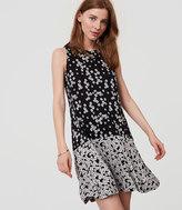 LOFT Tossed Floral Flounce Dress