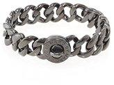 Marc by Marc Jacobs Womens Katie Brass Turnlock Bracelet Gray O/S