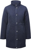 M&Co Chevron quilted coat