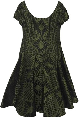 Bill Blass Green Silk Dress for Women