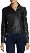 Andrew Marc Felix Leather Moto Jacket, Black