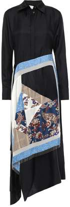 3.1 Phillip Lim Bead-embellished Layered Silk-twill Midi Shirt Dress
