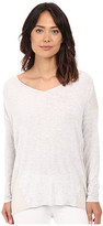 Heather Silk Panel Raglan Top