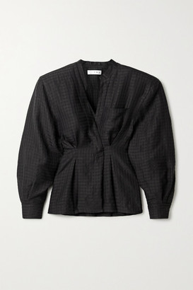 TRE by Natalie Ratabesi Checked Twill Blouse - Black