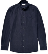 Richard James - Slim-fit Button-down Collar Cotton-corduroy Shirt