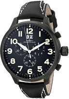 Zeno Men's 6221-8040-BK-A1 Super Oversized Chronograph Dial Watch
