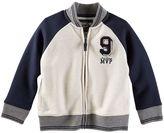Osh Kosh Boys 4-7 Fleece Varsity Jacket
