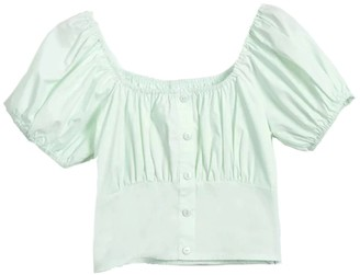 Goodnight Macaroon 'Chu' Ruched Cropped Top