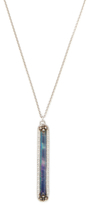 Armenta New World 0.03 Total Ct. Champagne Diamond, Blue Sapphire, Mother of Pearl & Quartz Elongated Pendant Necklace
