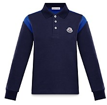 Moncler Boys' Long Sleeve Polo Shirt - Little Kid