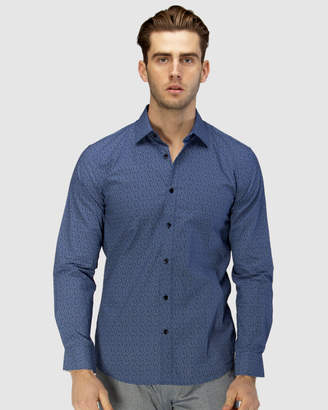 Brooksfield Luxe Dot Paisley Print Business Shirt