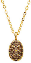 Lord & Taylor Diamond and 14K Yellow Gold Oval Pendant Necklace
