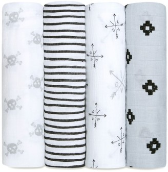 Aden Anais Baby's Set of Four Classic Cotton Swaddles