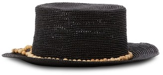 Sensi Straw hat with pearls