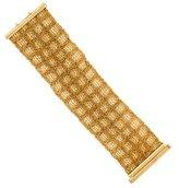 Carolina Bucci 18K Wide Woven Bracelet