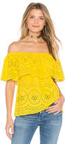 Cupcakes And Cashmere Davy Top in Yellow. - size L (also in M,S,XS)