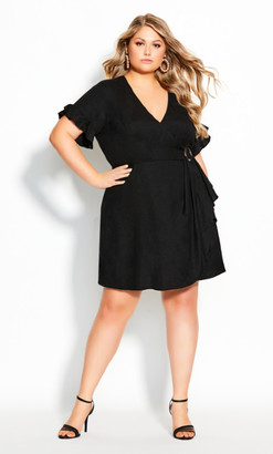 City Chic Perfect Summer Dress - black