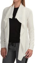 Jockey Textured Jacquard Wrap Cardigan Sweater (For Women)