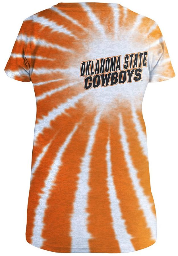Russell Athletic oklahoma state cowboys tie-dye burnout tee - women