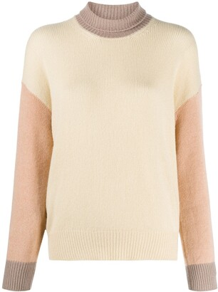 Marni Colour-Block Roll-Neck Jumper