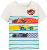 Mighty Fine Cars Checkered Stripes Tee (Toddler Boys)