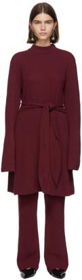 Nanushka Burgundy Cashmere Abhaya Dress